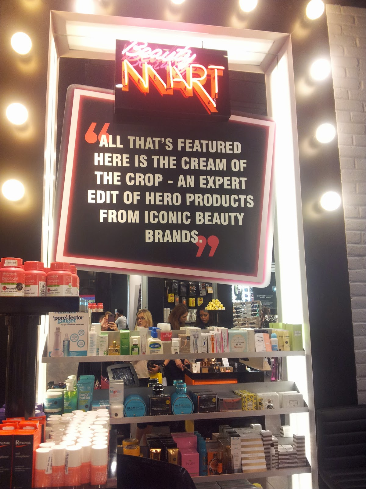 Beauty Mart Topshop Oxford street London