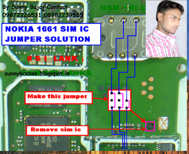 Nokia 1661 Sim IC Jumper Solution