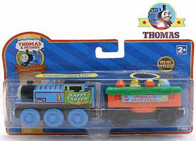 Favorite Sodor toy Thomas the tank engine Wooden Railway Happy Easter egg car makes a perfect gift
