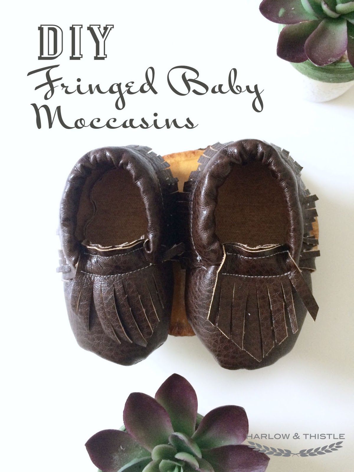 Baby Moccasin Shoes >> DIY Fringed Baby Moccasins   Harlow & Thistle - Home Design - Lifestyle - DIY