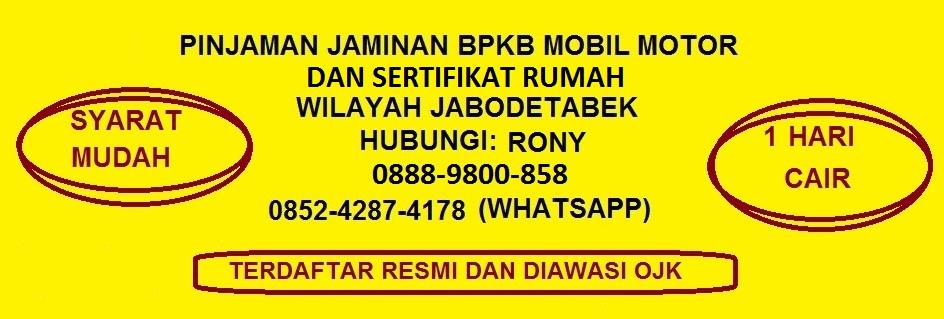 Pinjaman Uang Jaminan BPKB  0852-4287-4178 ( WA ) Gadai BPKB Mobil Motor