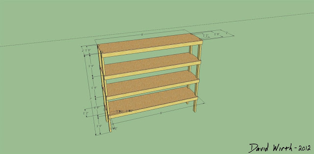 wood shelf plans, dimensions, how to make, build, easy, simple, diy