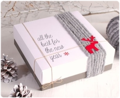 Regalo decorado con lana_Selfpackaging
