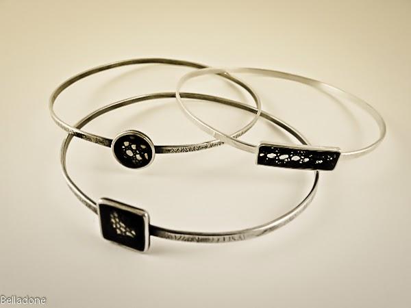 bracelet dentelle plaqué argent