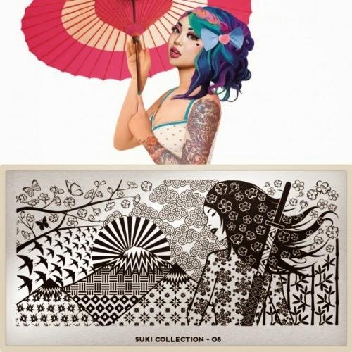 moyou london suki collection, suki 08 moyou london, plaque stamping suki 08, stamping plate suki 08, moyou london stamping plate, blog nail art facile