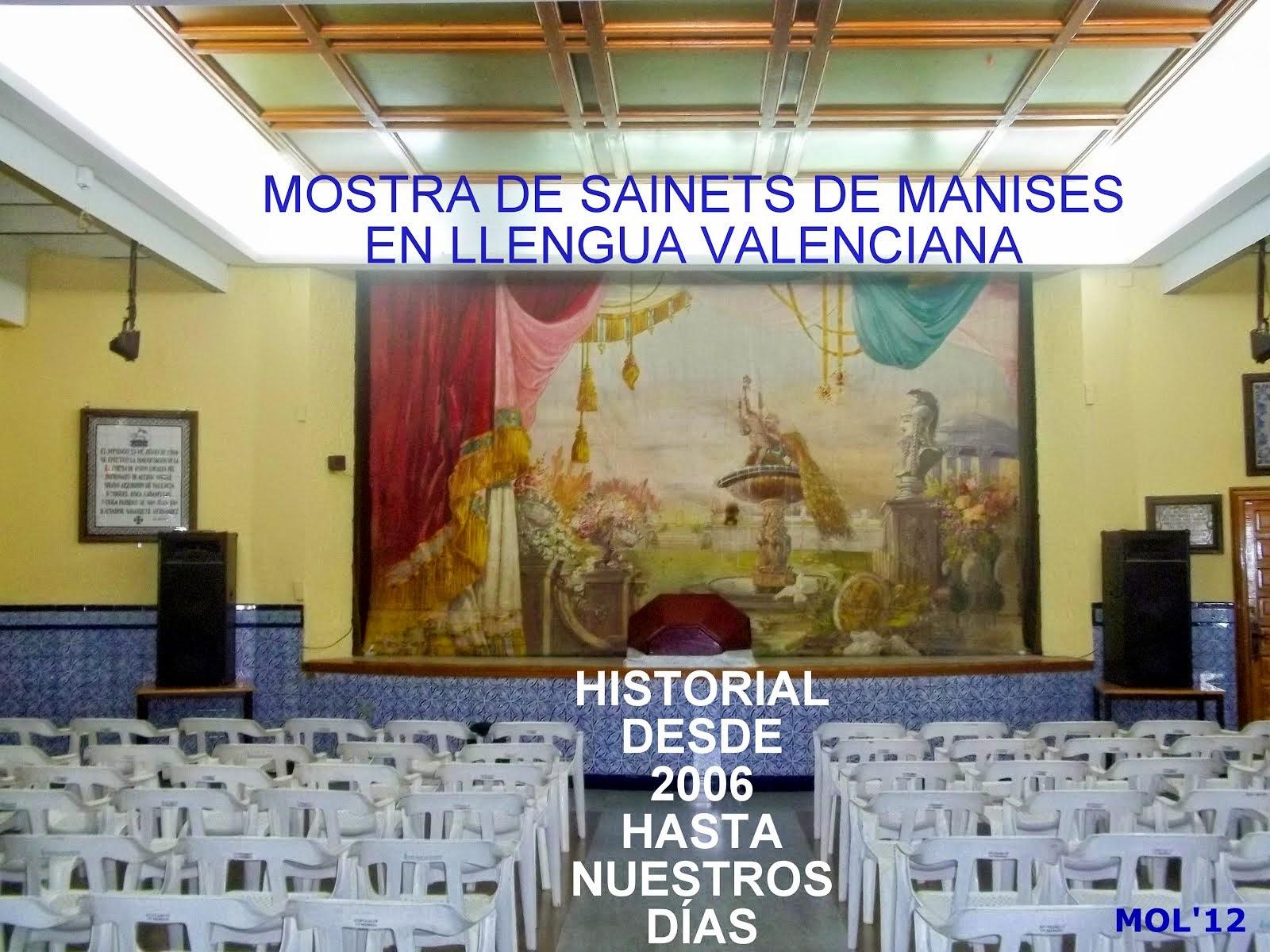 MOSTRA DE SAINETS DE MANISES EN LLENGUA VALENCIANA