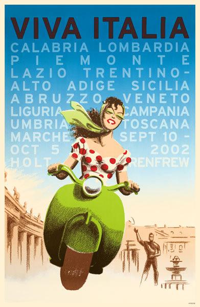 viva italia travel poster, Vintage Travel Posters