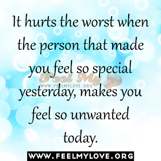 It hurts the worst when the person that made you feel