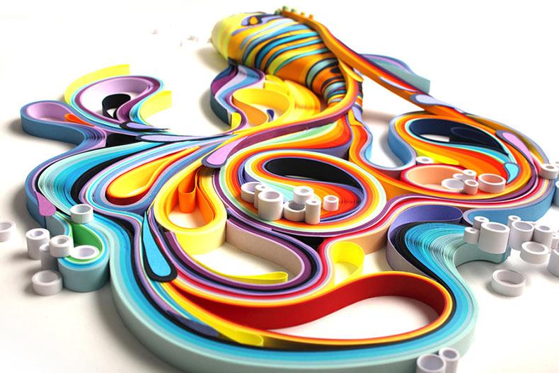 Increíblemente coloridas esculturas de papel de Yulia Brodskaya