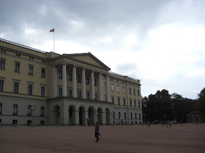 Royal Palace in Oslo, July 23, 2011, half staff