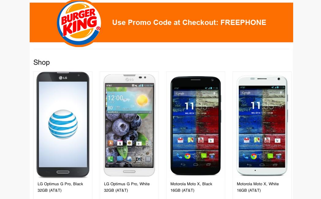 Burger King Regala Smartphones