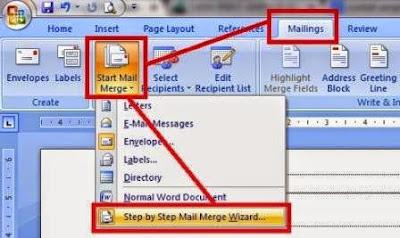 gambar cara membuat mail merge