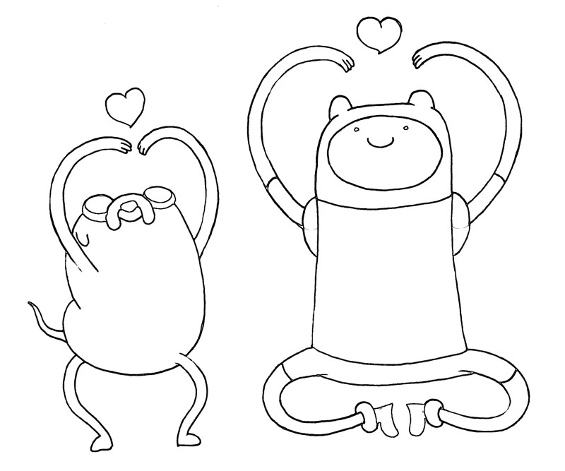 adventure time finn coloring pages coloring pages