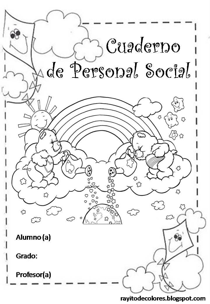 Carátula para cuaderno de Personal Social