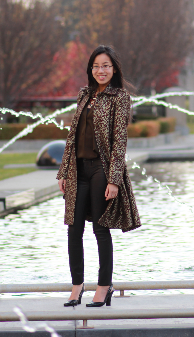 cheetah animal print jacket coat how to wear