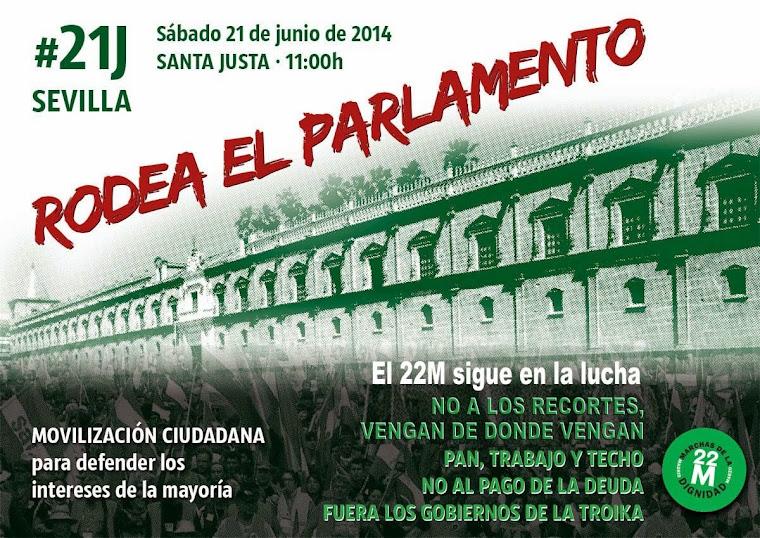 21Jvdv - Marchas por la Dignidad: Rodea tu Parlamento