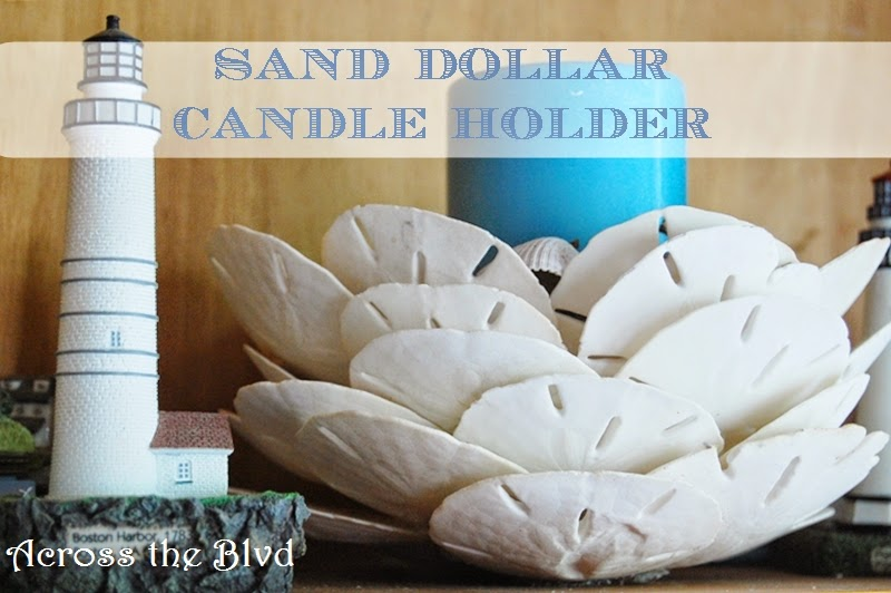 Sand Dollar Candle Holder :Across the Blvd
