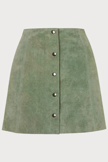 green suede skirt, light green suede skirt, topshop green suede skirt,