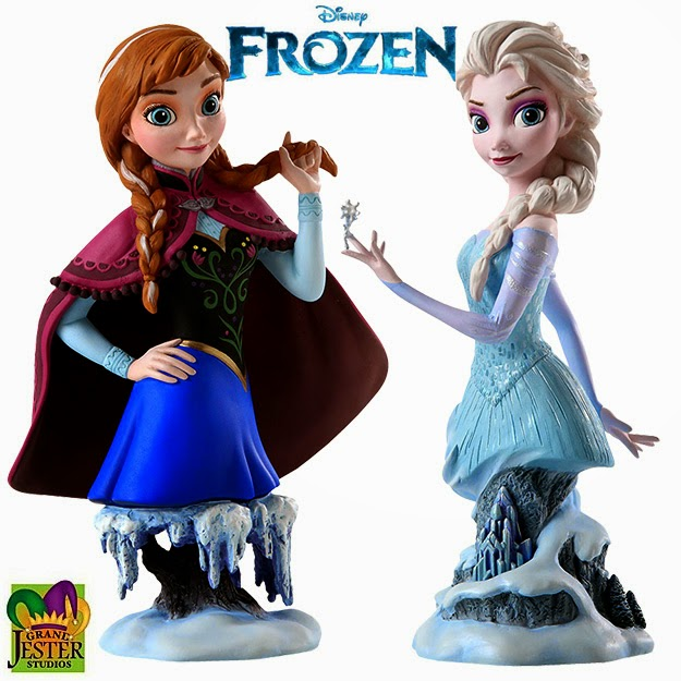 Anna and Elsa Frozen Busts