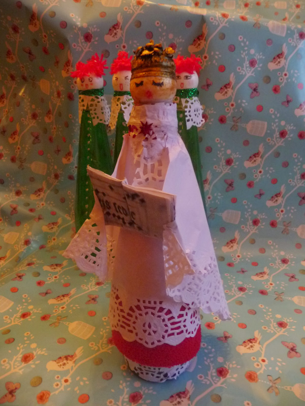 Atelier victoriano adornos de navidad con materiales - Adornos reciclados para navidad ...