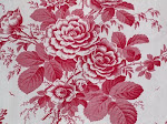 Late 19th century French floral fabric