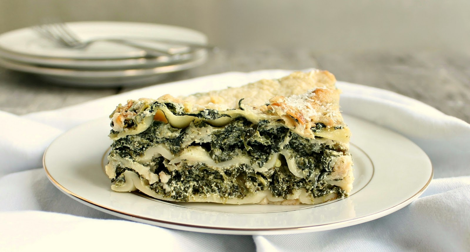 Hungry Couple: Light Spinach Lasagna with Cauliflower Sauce