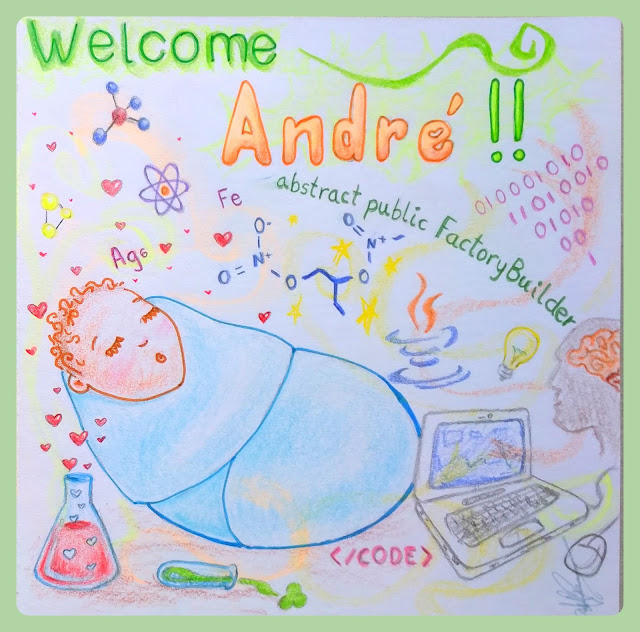 New born card - André by Elizabeth Casua, tHE 33ZTH oRDER