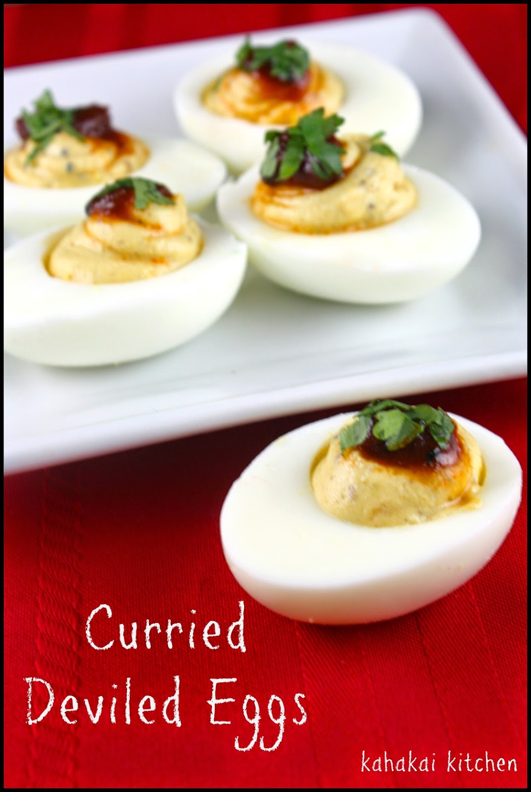 Kahakai Kitchen: Curried Deviled Eggs for Food 'N Flix January ...