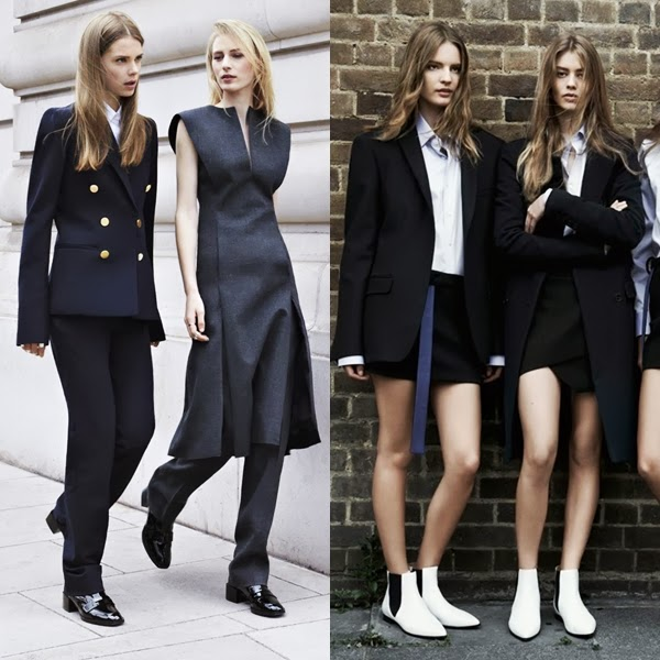 zara oversized coats and androgynous shoes autumn/winter collection