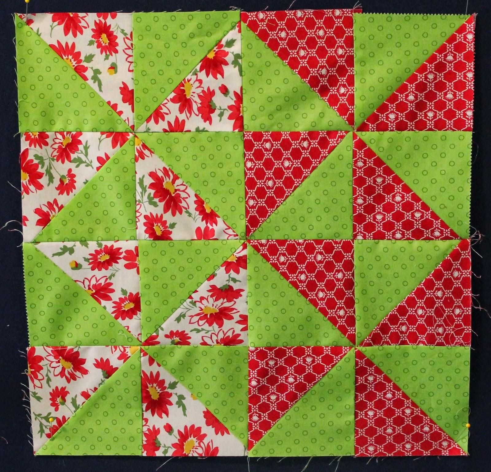 Sweet Songs: Layer Cake Sampler Quilt -- Blocks 7 and 8