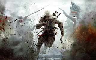 Assassins Creed Axe War Running Bow Arrow Video Game HD Wallpaper Desktop PC Background