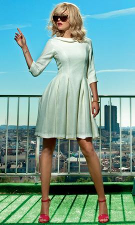 vestido blanco Dolores Promesas colección Resort 2013