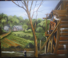 painting of a man&#39;s home as he remembers