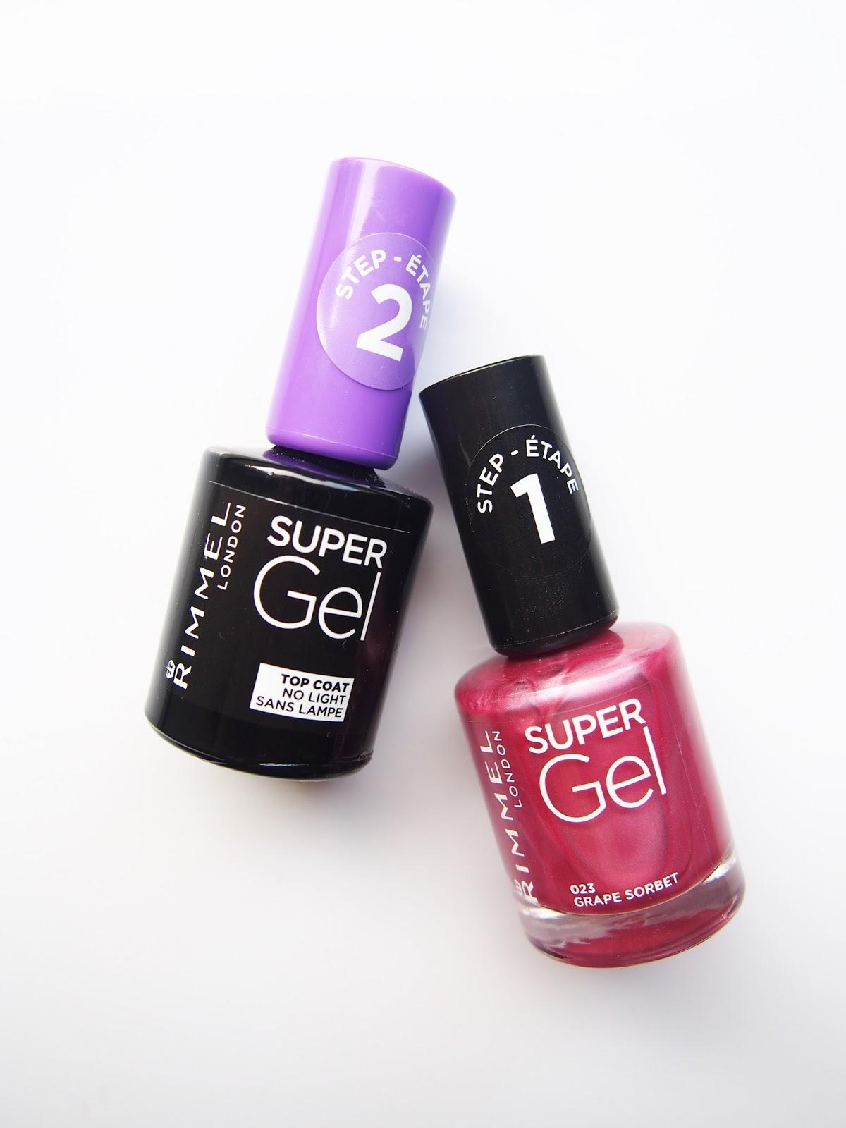 Review: Rimmel Super Gel Duo Set 023 Grape Sorbet