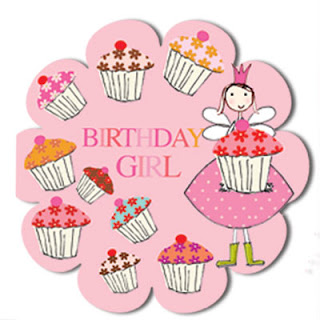 happy birthday cupcakes little girl greeting cards stationery designers Liz and Pip Ltd