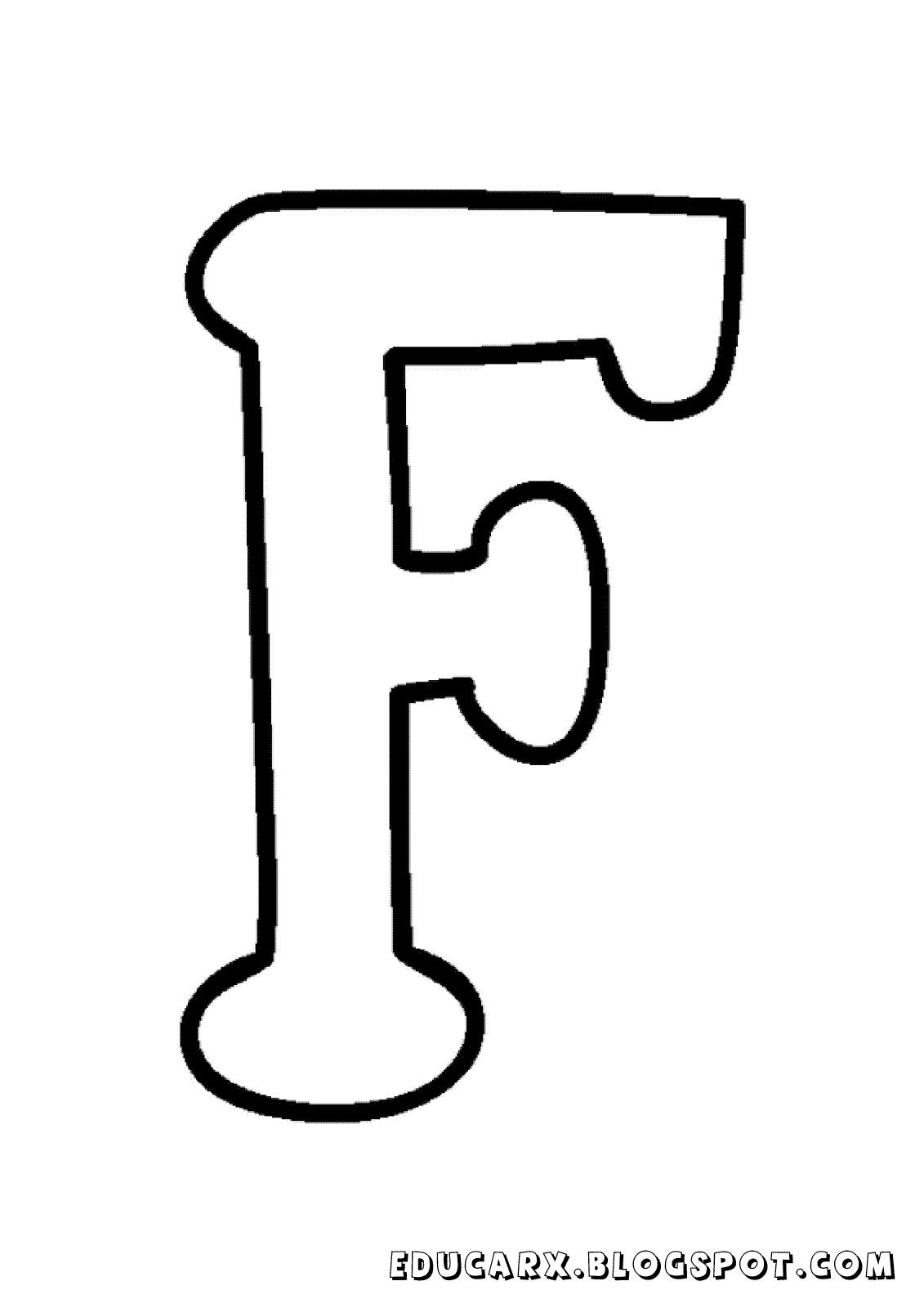 Molde da letra maiúscula F
