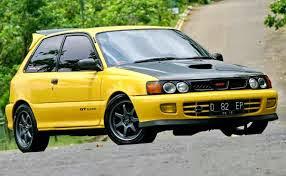 Hasil modifikasi terbaik mobil toyota starlet kuning