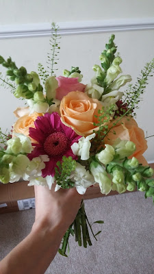 DIY bridal bouquet wedding flowers