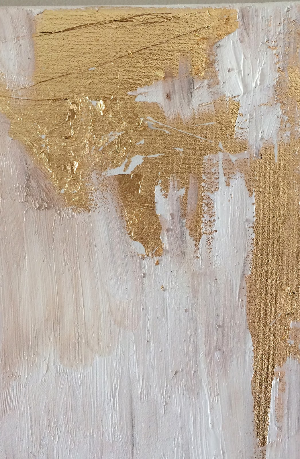 Livelovediy how to make diy gold leaf abstract art for How to make metallic paint