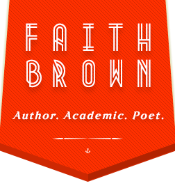 Faith A. Brown - website header