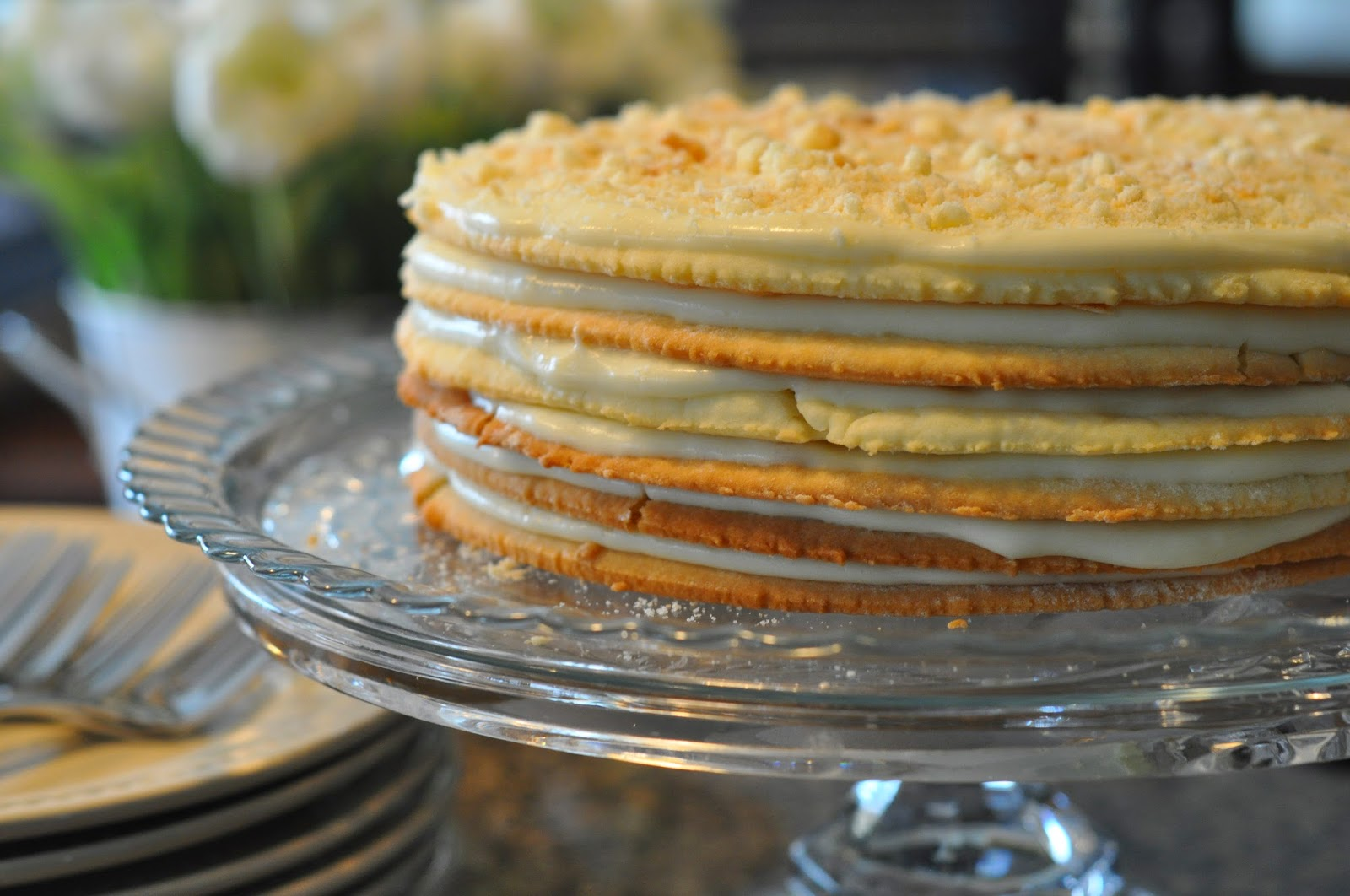 How to cook a cake Napoleon there is puff pastry