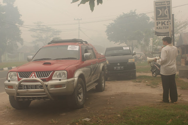 PKS Kalteng Evakuasi Warga Korban Asap ke Banjarmasin