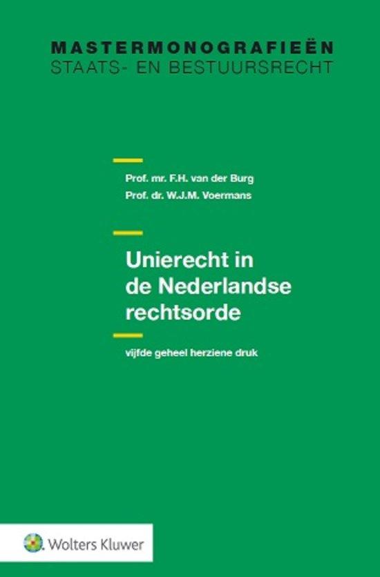 Nieuw boek over Unierecht