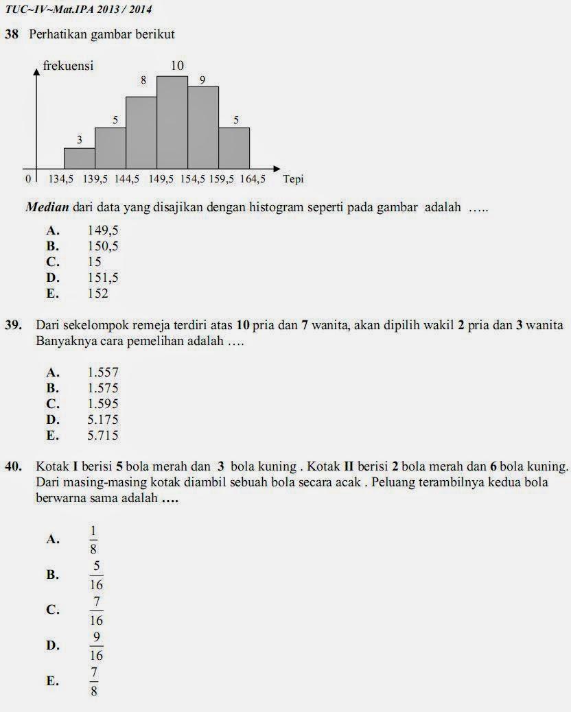 Matematika Di Sma Soal Dan Kunci Jawaban Tuc 4 Matematika Ipa Sma Ma