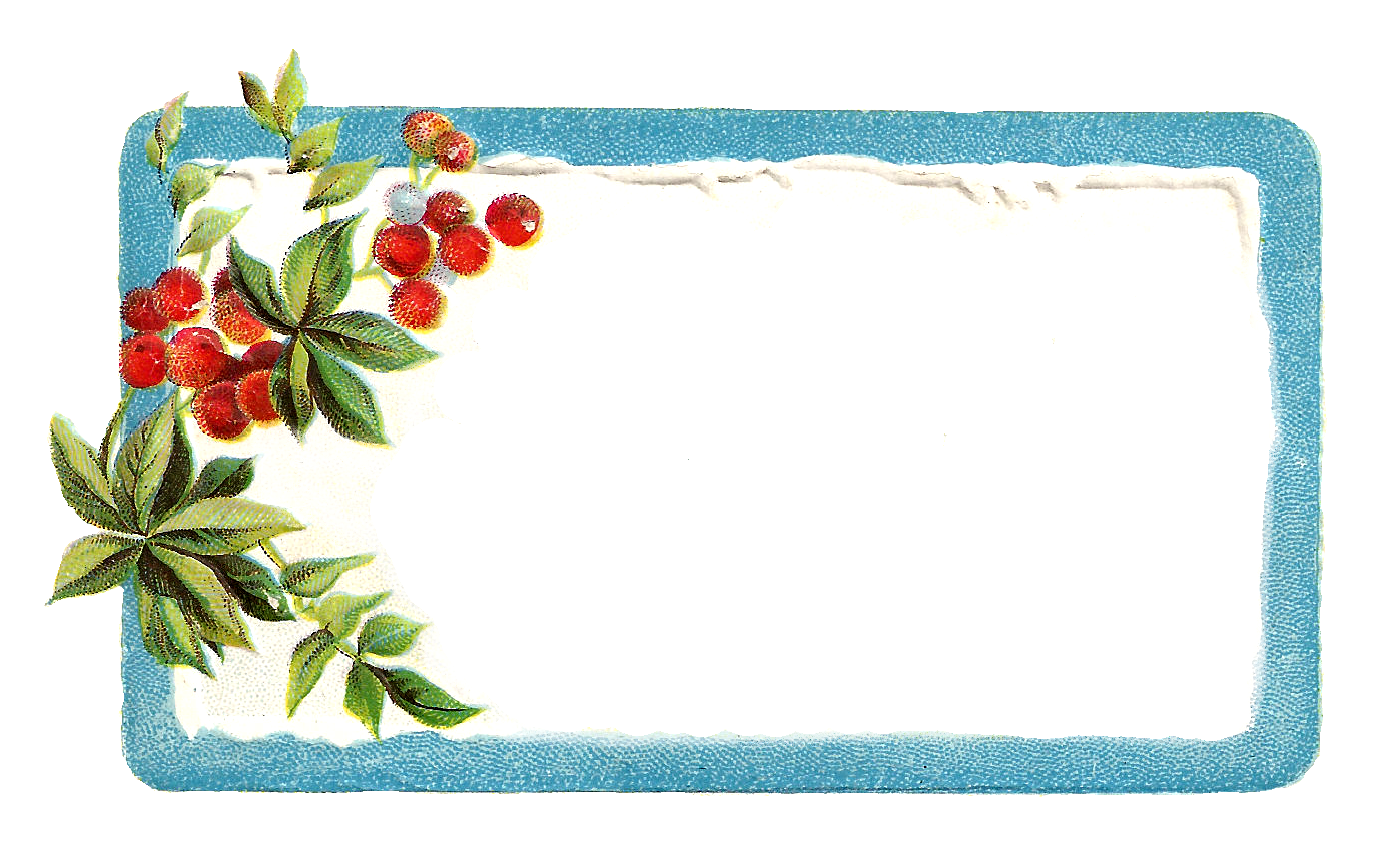 Antique Images: Printable Vintage Christmas Blue Labels and Frames ...