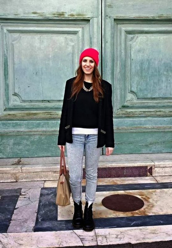 Firenze outfit asos beanie dr martens how to wear dr martens longchamp studded jacket thesparklingcinnamon