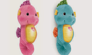 Fisher-Price Ocean Wonders Soothe and Glow Seahorse colors
