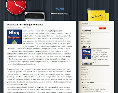 iWork Blogger Theme