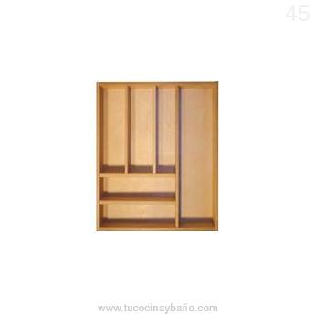 cubertero madera cajon cocina 45