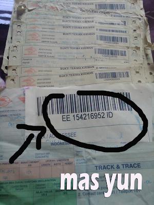 bukti resi pos indonesia